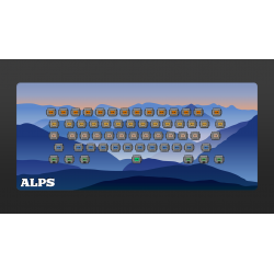 Alps Sunrise Deskmat